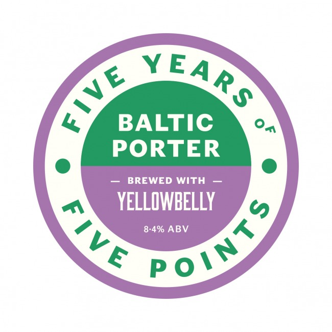 Keg clip for Five Points x Yellowbelly collab Baltic Porter